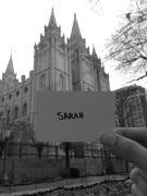 SarahCardBW
